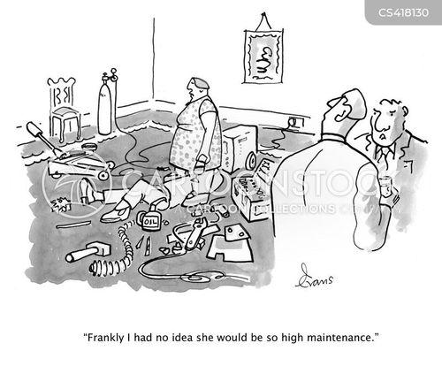 high-maintenance cartoon