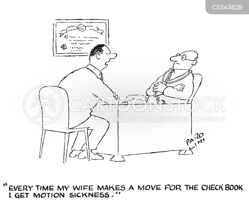 motion sickness cartoon