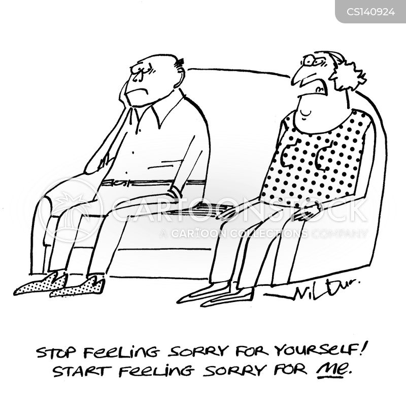 feeling sorry for yourself cartoon