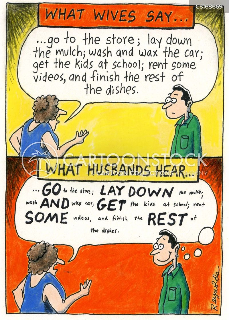 lazy husband cartoon