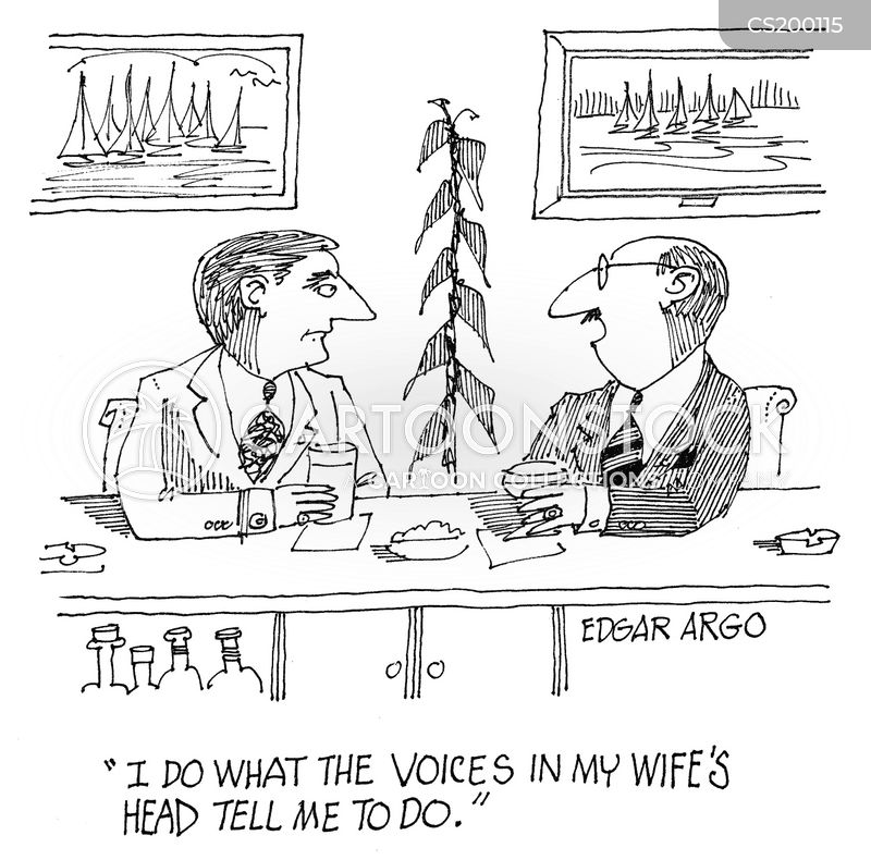 hearing voices cartoon