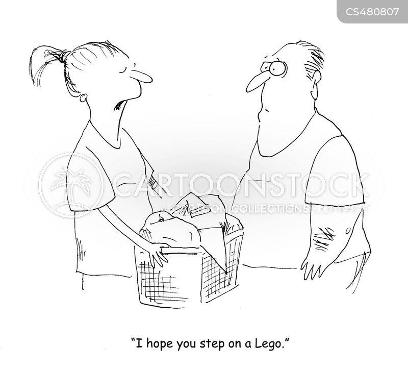 washing baskets cartoon