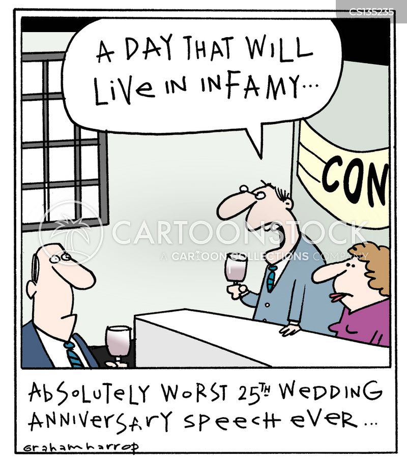 Funny Wedding Anniversary: Silver Anniversary Cartoons And Comics