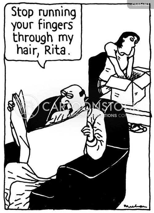 straight hair cartoon