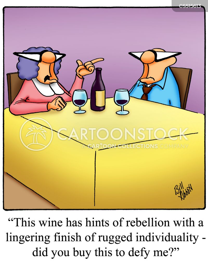 wine pairing cartoon