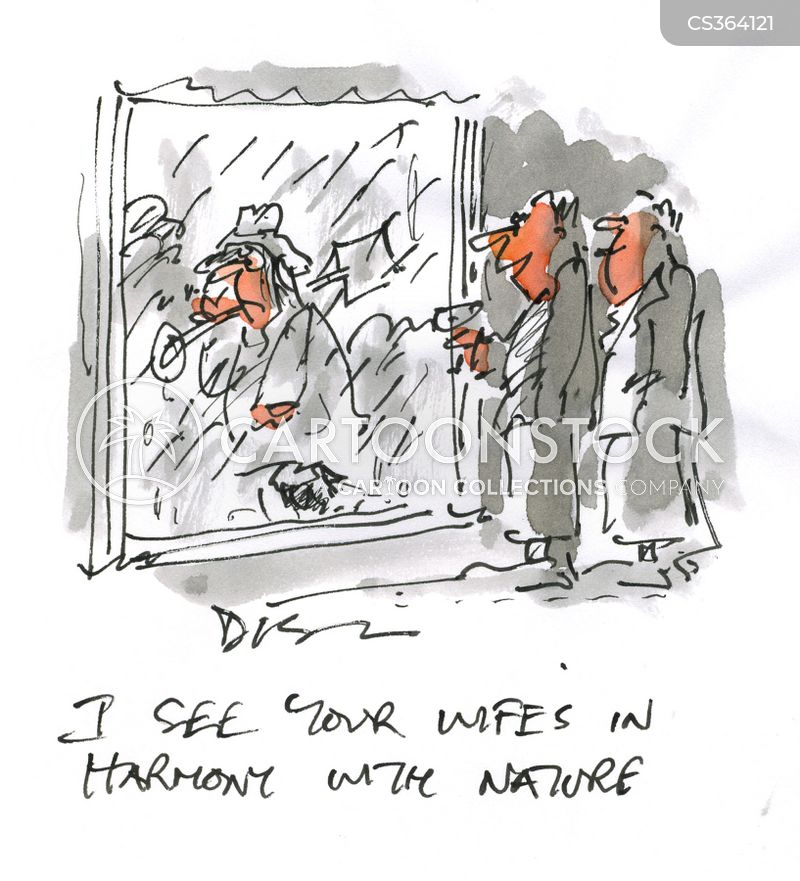 at one with nature cartoon