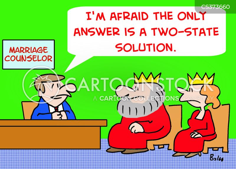 two-state solution cartoon