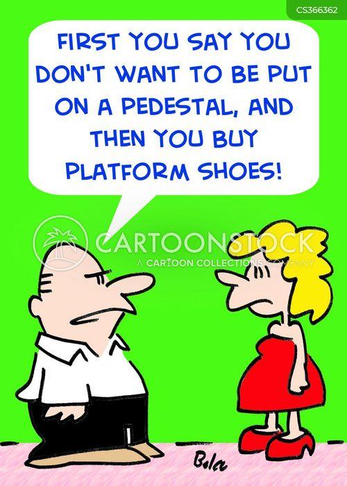 platform shoes cartoon