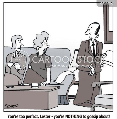gossipy cartoon
