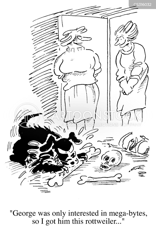 rottweiler cartoon