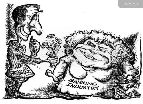 advertising budget cartoon