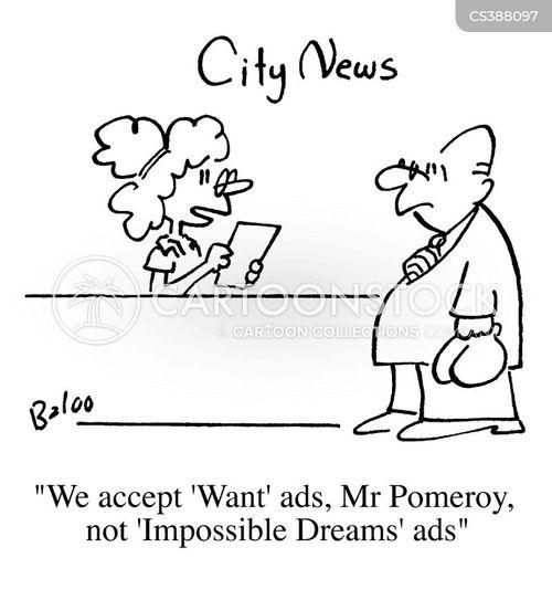 want ad cartoon