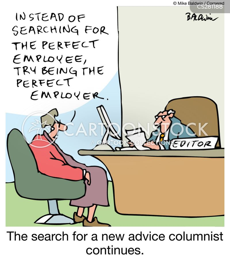 newspaper editor cartoon