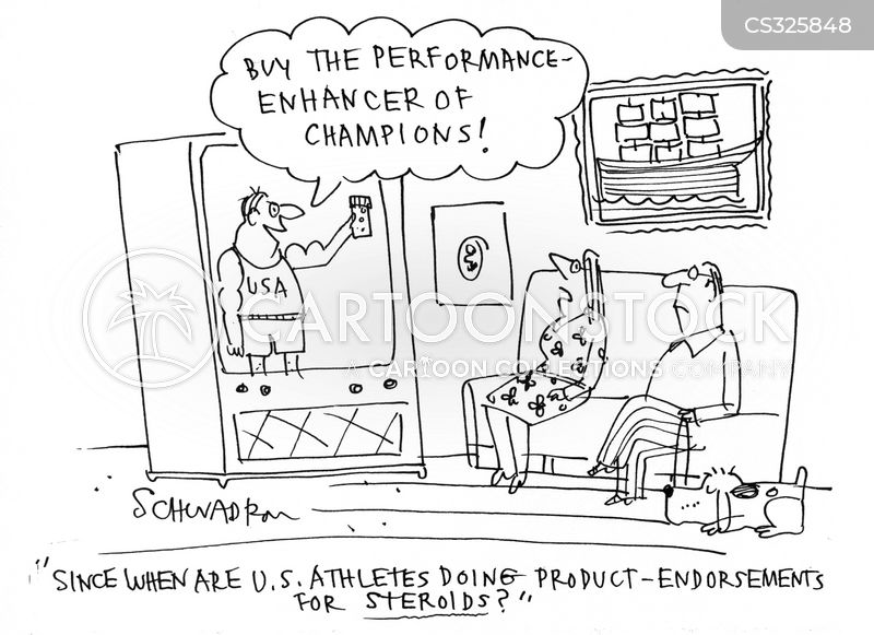 taking steroids cartoon