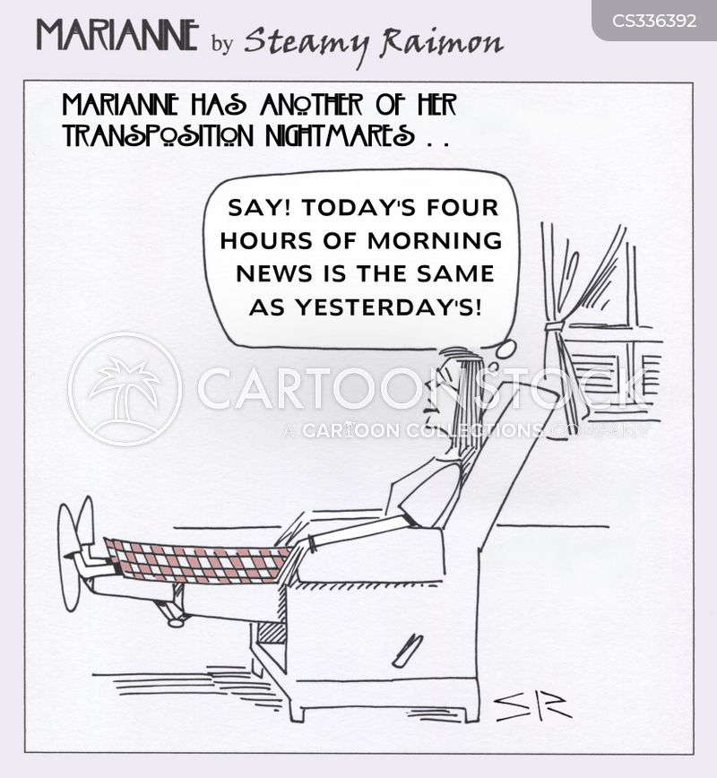 morning news cartoon