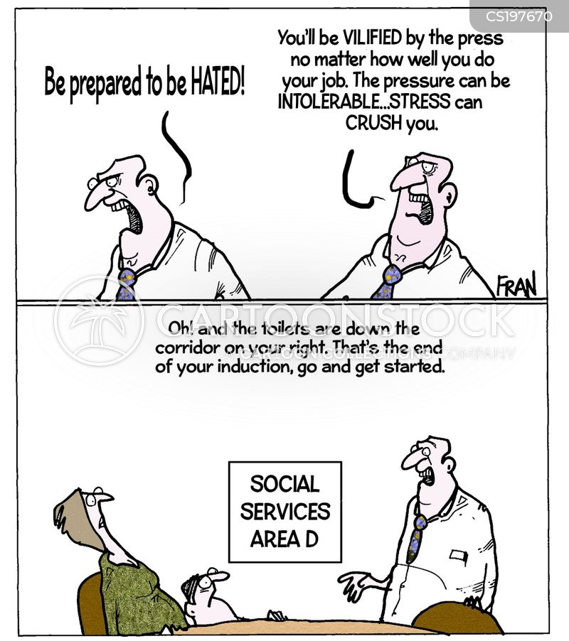 social working cartoon