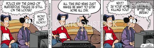 tabloid media cartoon