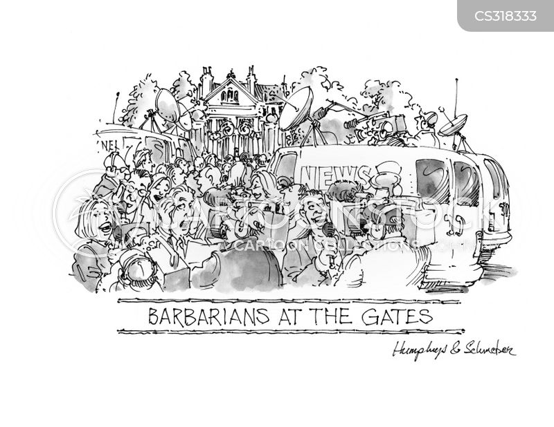 press frenzies cartoon