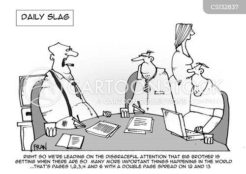 gossip rags cartoon