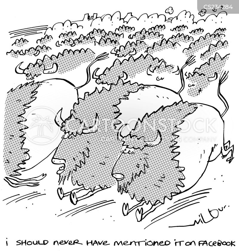 stampeding cartoon