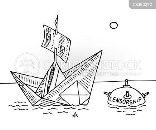 sea mines cartoon
