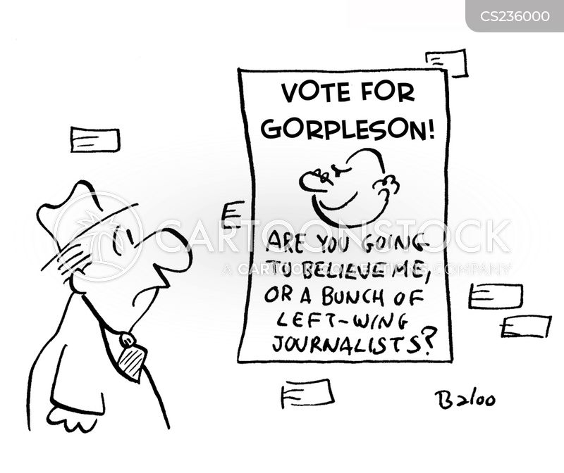 campaign posters cartoon