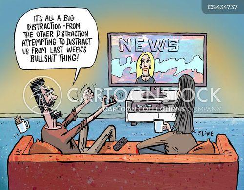political spin cartoon