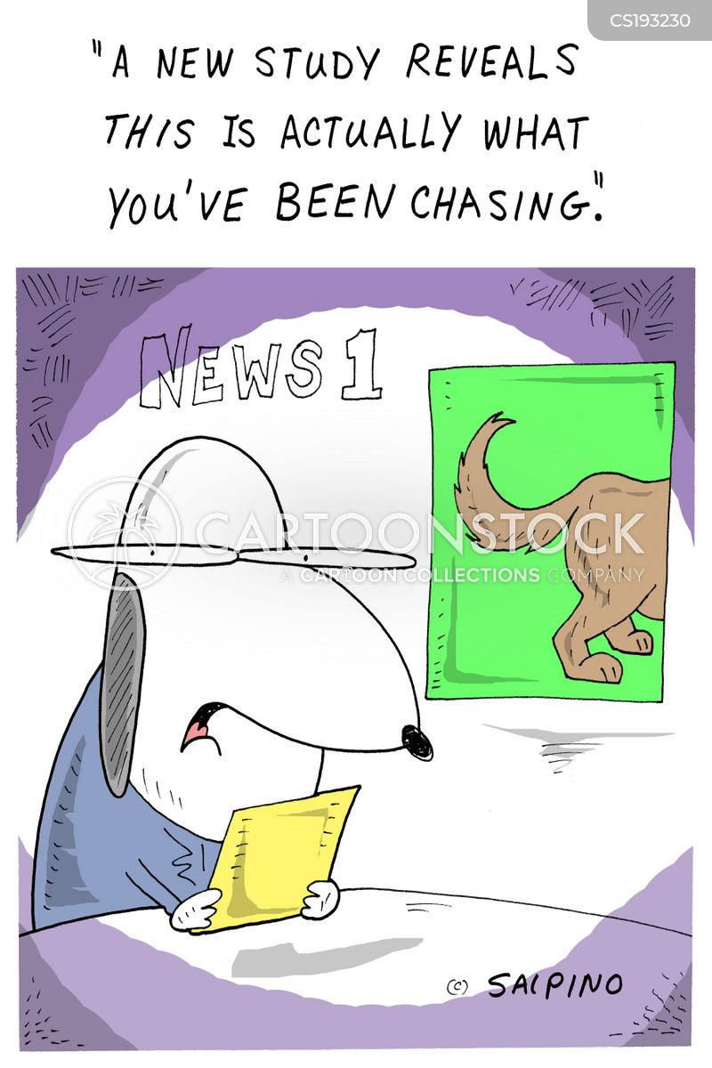 chases your tail cartoon