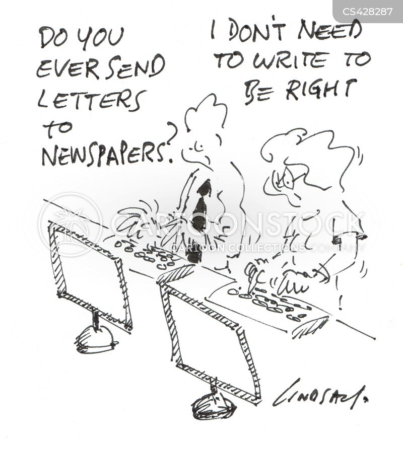 letter writers cartoon