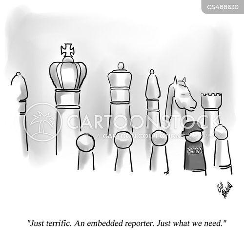 embedded reporters cartoon