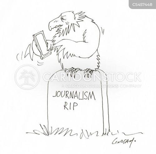 tabloid journalism cartoon