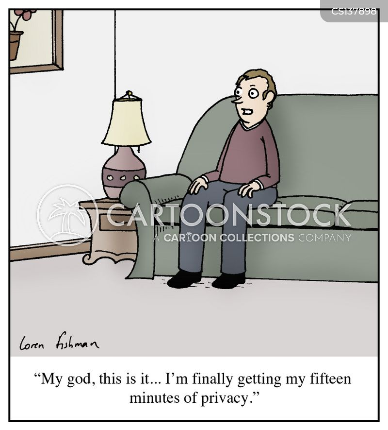 alone time cartoon