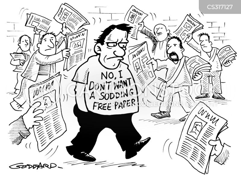 free papers cartoon