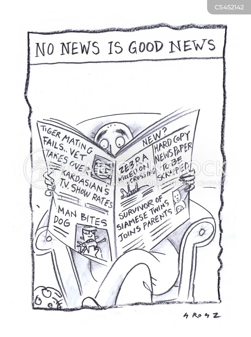no news cartoon