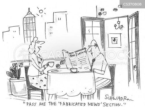 fabricated news cartoon