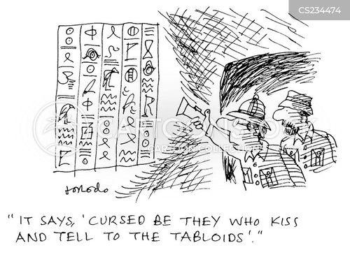 tabloid press cartoon