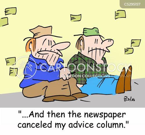 advice column cartoon