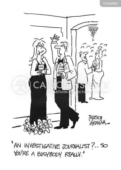 investigative journalist cartoon