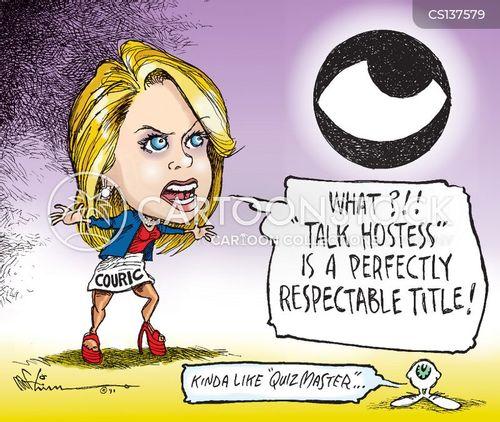 media personality cartoon