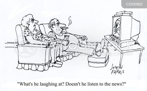 televised news cartoon