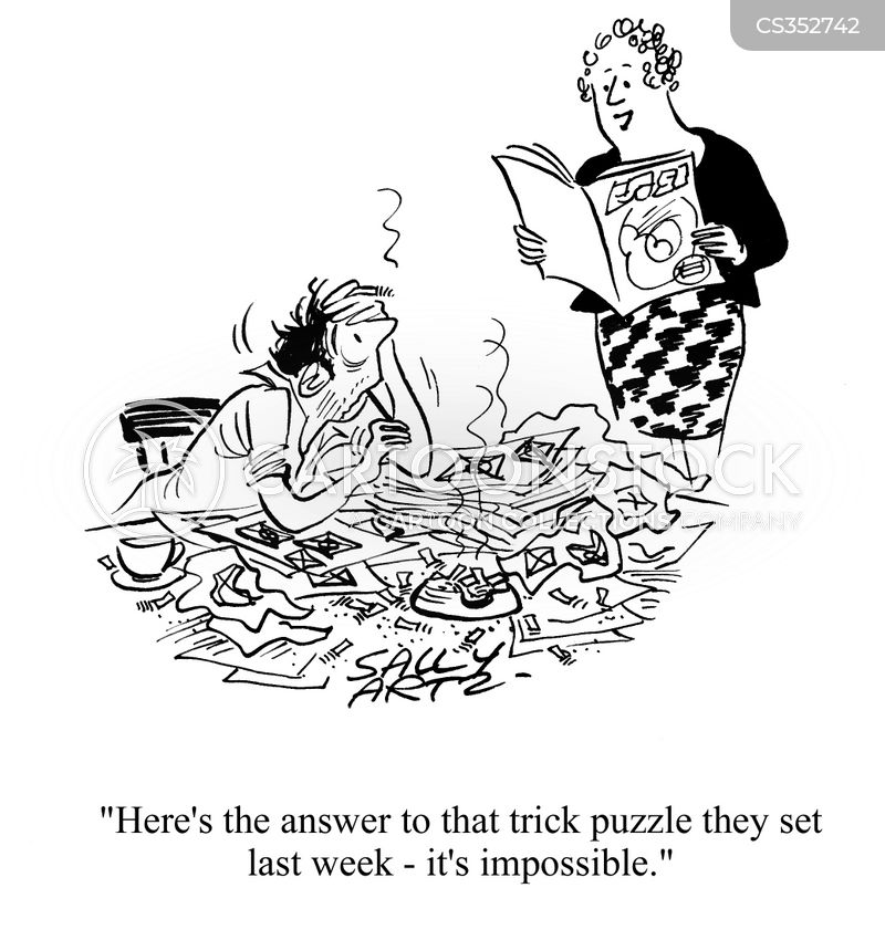 Trick Puzzles Cartoons and Comics - funny pictures from CartoonStock