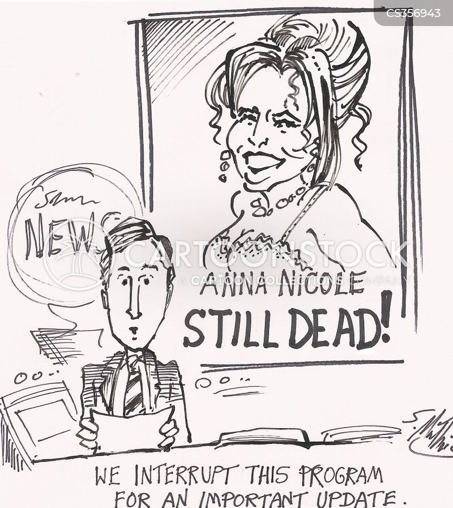 anna nicole cartoon