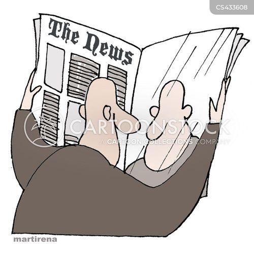 press coverage cartoon