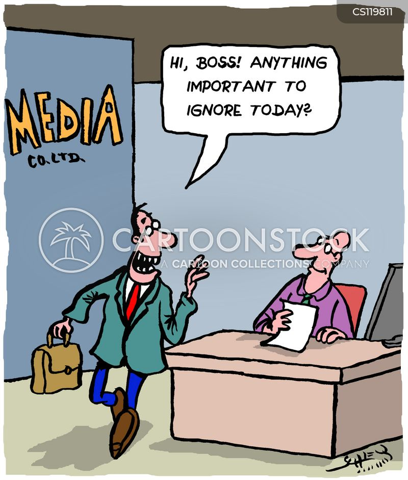 objective reporting cartoon