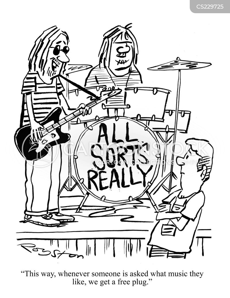 Musical Group Names Group Names Cartoon 1 of 1