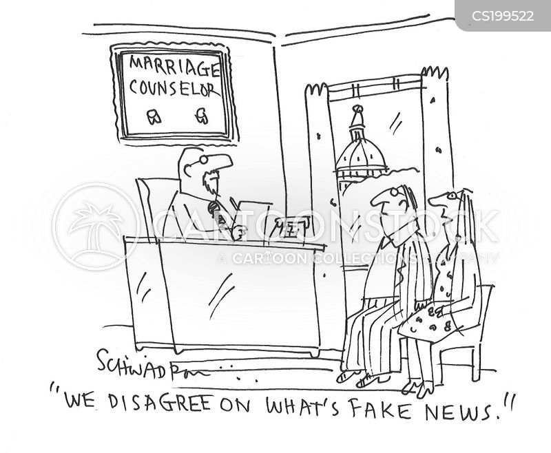 real news vs. fake news cartoon