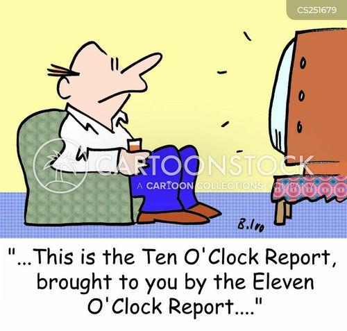 evening news cartoon