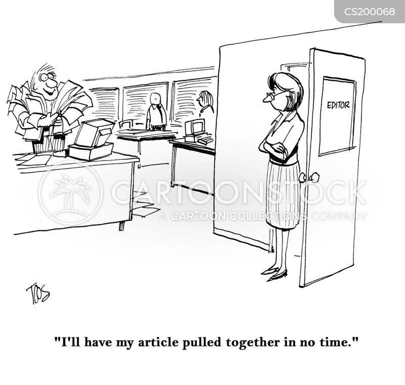 newspaper editors cartoon