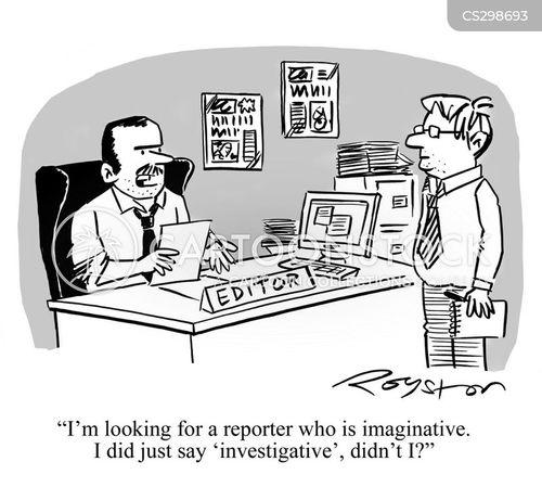 news room cartoon