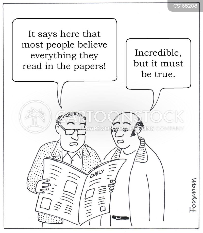 gullibility cartoon